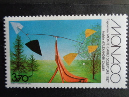 """MONACO 1987 Y&T N° 1578 ** - EXPOSITION """" MONTE CARLO SCULPTURE 1987 """" - Neufs"""