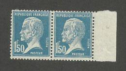 FRANCE - PAIRE N°YT 181 NEUVE* AVEC GOMME ALTEREE - COTE YT : 12.20€ - 1923/26 - 1922-26 Pasteur