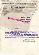 13- CABANNES- RARE LETTRE ALLARD REY- ETS. HORTICULTURE VITICULTURE-HORTICULTEUR VITICULTEUR- 1936 AGRICULTURE - Agriculture