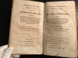 Philologisch-kritischer Und Historischer Commentar über Das Evangelium Des Johannes - Das Neue Testament - 1804 - Livres, BD, Revues