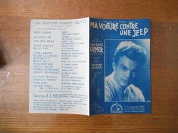 """MA VOITURE CONTRE UNE """"JEEP"""" EN HOMMAGE A LA DIVISION LECLERC UNE CREATION DE GEORGES ULMER 1945 - Partitions Musicales Anciennes"""