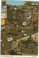 V1791 London - Piccadilly Circus - Auto Cars Voitures - Bus Autobus / Viaggiata 1987 - Piccadilly Circus