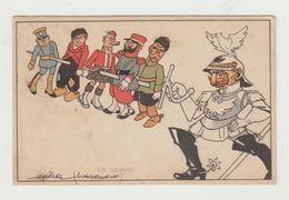 WW1 - CARTOLINA UMORISTICA LO SPIEDO- VIAGGIATA 1915 - POSTA MILITARE UFFICIO 20° DIVISIONE + ANNULLO 1° REGGIM.GENIO - Guerra 1914-18