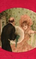 Raphael Kirchner, Dame Mit Mann, Katalog Nr. D22-2, 1903 - Kirchner, Raphael