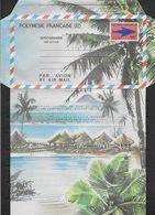 1982 Polynésie Française N° AE  4  Nf** . MNH . Aérogramme .Cocotiers, Montagnes Et Village - Aérogrammes