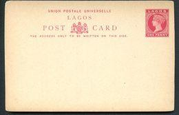 LAGOS NIGERIA  Postal Card #7 Mint Vf 1893 - Nigeria (...-1960)