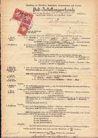 1897 - Orts - Post - Zustellungsurkunde Oberdachstetten > Uffenheim - Zehen Sie 3 Scans Bitte ! Tampon Bleu !! Selten - Allemagne