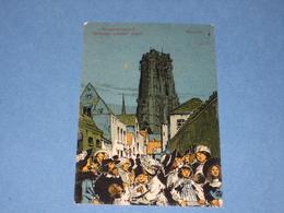 MECHELEN - Illustrator Alfred Ost - Straatje Zonder Einde - Verstuurd 1910 - Mechelen