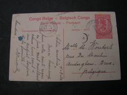 Conge Belge Bild Karte Eisenbahn 1920 - Ganzsachen