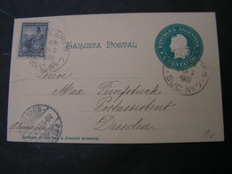 Argentina Alte Karte 1902 - Ganzsachen