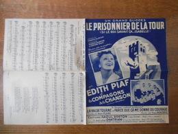 LE PRISONNIER DE LA TOUR EDITH PIAF ET LES COMPAGNONS DE LA CHANSON PAROLES DE FRANCIS BLANCHE MUSIQUE FRANCIS BLANCHE E - Partitions Musicales Anciennes