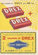 VECCHIO DEPLIANS PUBBLICITARIO SAPONE DREX -FG - Werbung