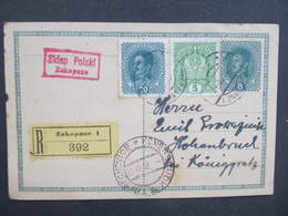GANZSACHE Zakopane - Hohenbruck 1918 Korrespondenzkarte   /// D*30099 - 1850-1918 Imperium