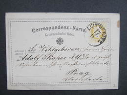 GANZSACHE Leitmeritz - Prag 1872 Korrespondenzkarte   /// D*30100 - 1850-1918 Imperium