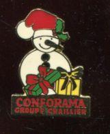 Pin's - Bonhomme De Neige CONFORAMA - Christmas