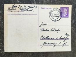 E12 Deutsches Reich Germany Allemagne Ganzsache Stationery Entier Postal P 299 Von Warstein Nach Oberkaina - Germania