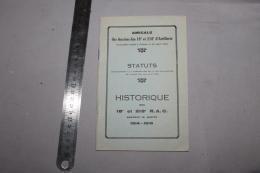 Historique Des 18ème Et 218ème RAC En 1914-18 - 1914-18