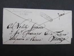 BRIEF Bassano Vicenza - 1823 !! /// D*30109 - Italia