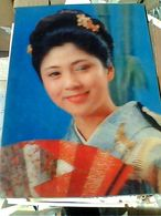 EFFETTO TRIDIMENSIONALE  3 TRE D Japan. Wink. Geisha - Old Color Stereo   N1970  GN21728 - Cartoline Stereoscopiche