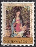 """Oman 1970 """"Madonna Bardi Battista Giovanni (Dettaglio"""" Quadro Dipinto Da S. Botticelli Preobliterato Paintings Tableaux - Oman"""