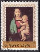 """Oman 1970 """" Madonna Del Granduca """" Quadro Dipinto Da Raffaello Painting Tableaux Nuovo Preobliterato - Oman"""