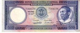 Guinea Equatorial P.7 500  Ekuele 1975 Xf - Guinée Equatoriale