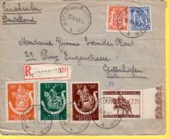 BELGIO 1943 -  VECCHIA RACCOMANDATA  VIAGGIATA  AUDERGHEM PER  GOTENHAFEN GERMANIA - Belgique