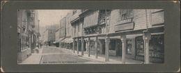The Butterwalk, Dartmouth, Devon, 1912 - Photochrom Panoramic Card - England