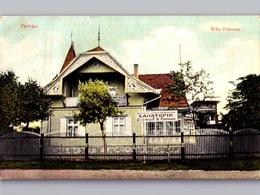 ESTONIA PERNAU Parnu Pyarnu Willa Petersen Pension Color Litho Sent 1913 - Estland