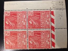 272**/* Type II 50c Rouge Femme Fachi Variété Erreur Du 02/03/32 - Dated Corners