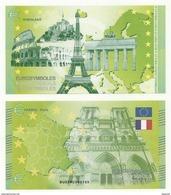 BILLET  TOURISTIQUE  EUROSYMBOLES  PARIS  NEUF SUPERBE - EURO