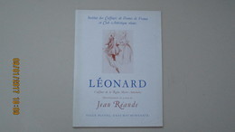 LEONARD, COIFFEUR ... / JEAN REANDE / SALLE PLEYEL 31 MAI 1939 / DEDICACE De JEAN REANDE ... - Programmes