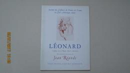 LEONARD / JEAN REANDE / SALLE PLEYEL 31 MAI 1939 / DEDICACE De JEAN REANDE ... - Programs