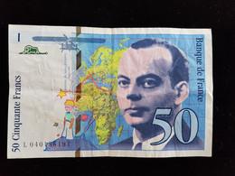 Billet De 50 Francs  ;St Exupery ; 1997 - 1992-2000 Laatste Reeks