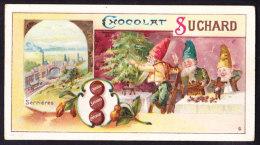 CHROMO Chocolat SUCHARD  Gnomes   Nains   Dwarfs  Arbre De Noël  Christmas Tree Serrieres  Serie 81 - Suchard