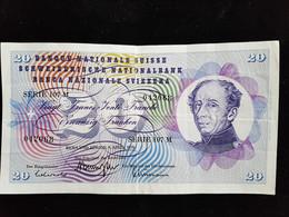 Billet De 20 Francs Suisse ;1975 Serie 107 M - Suiza
