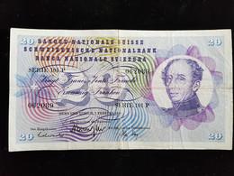 Billet De 20 Francs Suisse ;1974 Serie 101 P - Svizzera