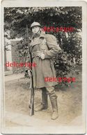 OORLOG GUERRE Belgian Soldier Full Uniform Rifle Adrian Helmet Bajonet Soldat Fusil 1918 - 1914-18