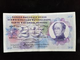 Billet De 20 Francs Suisse ;1976 Serie 104 U - Suisse