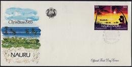 Ca0070 NAURU 1985, SG 326a  Christmas,  FDC - Nauru