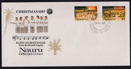 Ca0083 NAURU 1987, SG 366-7  Christmas,  FDC - Nauru