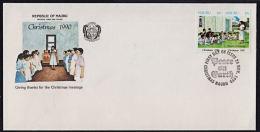 Ca0085 NAURU 1990, SG 385-6  Christmas,  FDC - Nauru