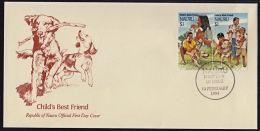 Ca0090 NAURU 1994,  SG 417a 'Hong Kong '94' Stamp Exhibition, Chinese New Year Of The Dog,  FDC - Nauru