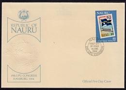 Ca0093 NAURU 1984, SG299 UPU Congress, Hamburg,  FDC - Nauru