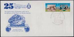 Ca0099 NAURU 1995, SG 435-6  25th Anniv Nauru Phosphate Corporation,  FDC - Nauru