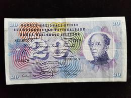 Billet De 20 Francs Suisse ;1968 Serie 57 Y - Suiza