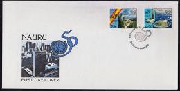 Ca5020 NAURU 1995, SG 444-5 50th Anniv United Nations,  FDC - Nauru