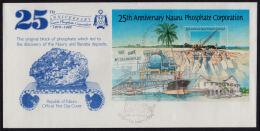 Ca5021 NAURU 1995, SG MS437  25th Anniv Nauru Phosphate Corporation,  FDC - Nauru