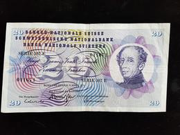Billet De 20 Francs Suisse ;1976 Serie107 E - Suisse