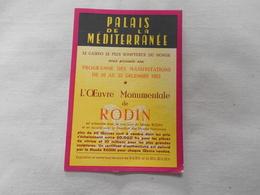 Palais De La Mediteranée   Programme Des Spectacles Du 16 Au 23 Decembre 1955 - Programs